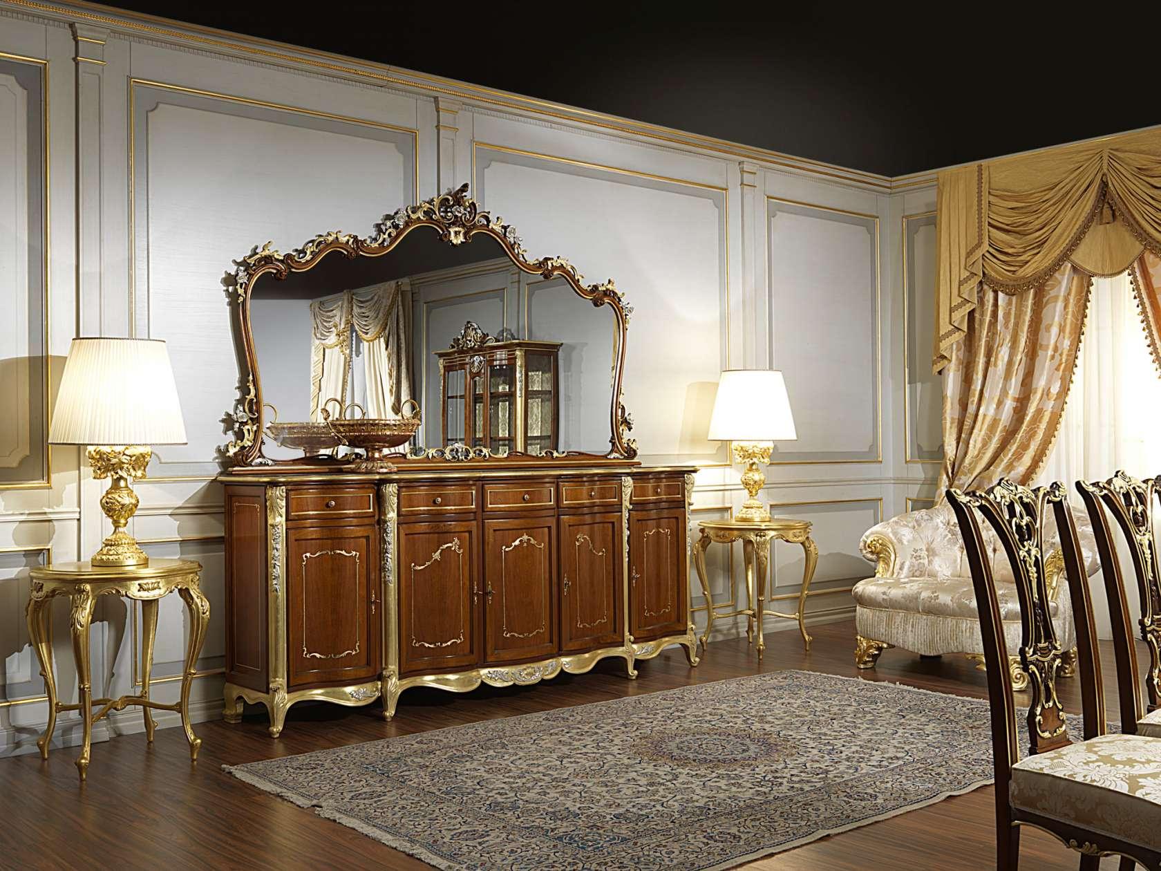 Credenza classica sala da pranzo in stile Luigi XV | Vimercati Meda
