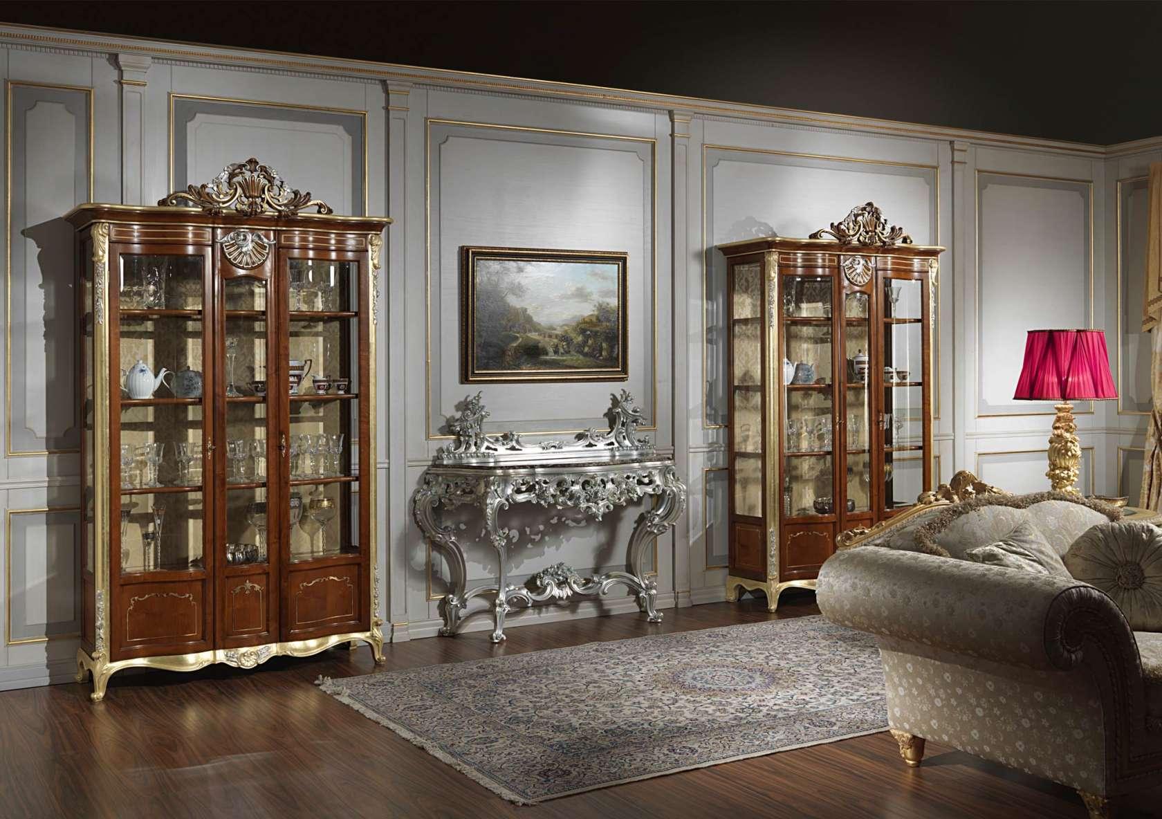 mobile vetrina per soggiorno in stile classico | vimercati meda - Vetrine Da Soggiorno Classiche