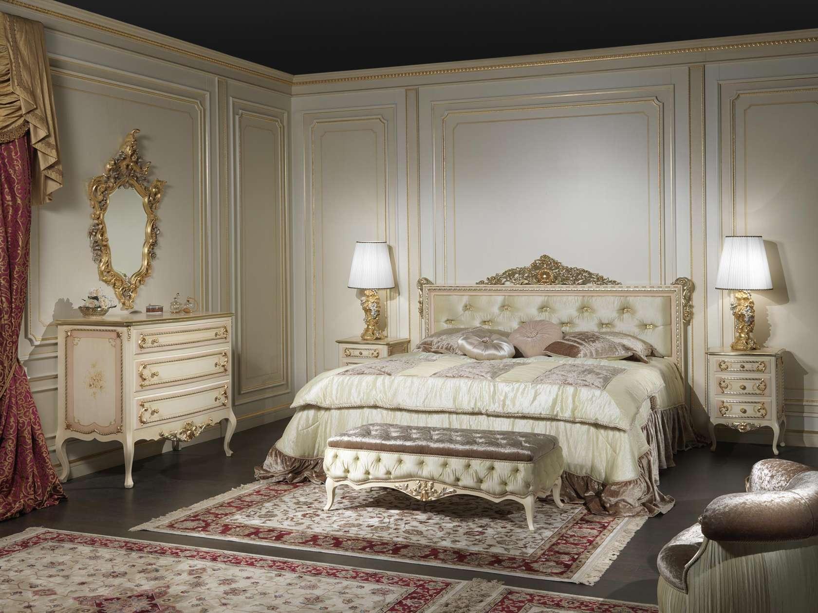 Camera stile classico francese louvre 943 vimercati meda - Camera da letto stile classico ...