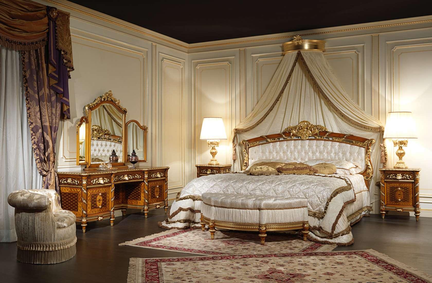 Camere Da Letto Arredate Vintage : Double bed in walnut art vimercati meda