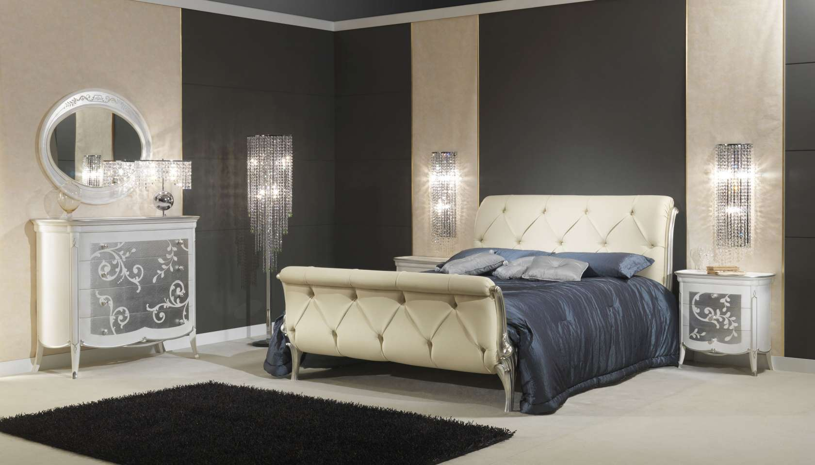 Camera da letto in stile art dec arredo classico di lusso for Camere da letto deco