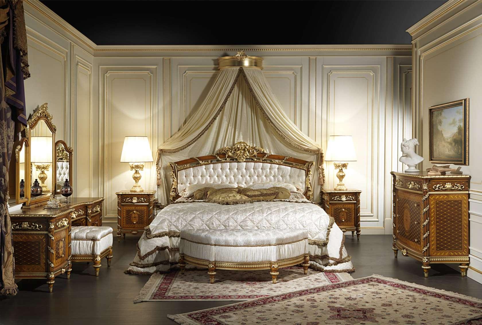 Camera da letto in noce luigi xvi noce e intarsi art 2011 vimercati meda - Camera da letto in noce ...