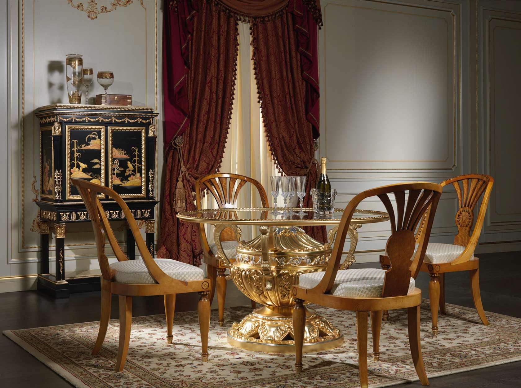 Sala Di Lusso In Legno E Cristallo Vimercati Meda #986E33 1680 1252 Sale Da Pranzo Classiche Bianche
