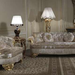 Divani imbottiti di lusso stile classico