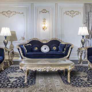 Salotto di lusso stile barocco
