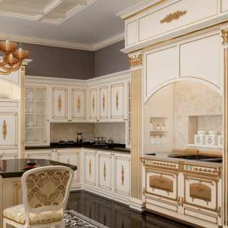 Cucina su misura artigianale classica Olga