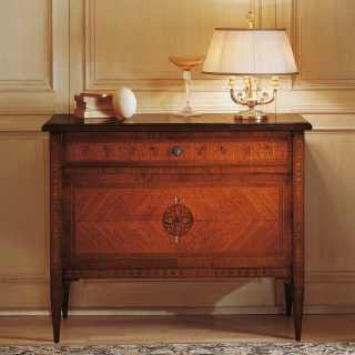 Maggiolini luxury night collection: walnut and olive wood chest of drawers