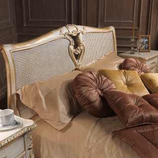 Classic bed cane headboard, Luigi XVI style