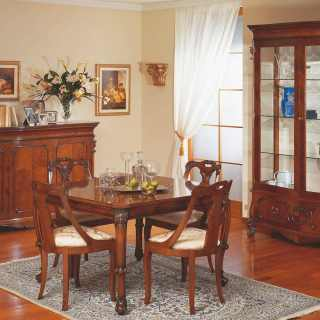Classic dining room 700 siciliano style, made in Italy