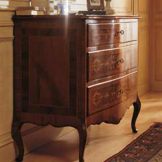Classic chest of drawers, Louvre collection of luxury classic furniture, walnut wood