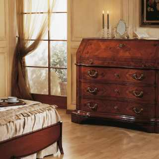 Walnut trumeau, 700 lombardo collection of luxury classic furniture, handmade in Italy