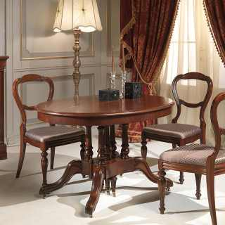 Classic walnut table extensible till cm 255 with 4 extensions