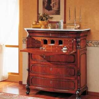 Trumeau 700 siciliano style, walnut finish, handmade carvings
