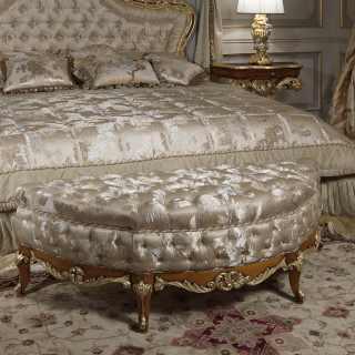 Panca barocca, collezione di arredo classico di lusso per la zona notte