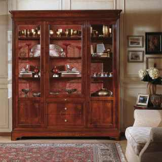 Walnut glass showcase, 800 francese style