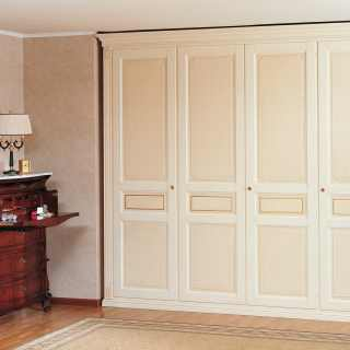 Classic modular wardrobe with lateral side pillars