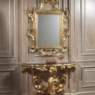 Consolle di lusso con specchio