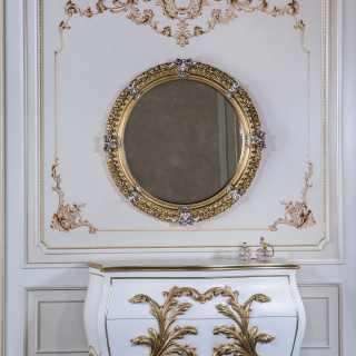 Comò e specchio per camera classica
