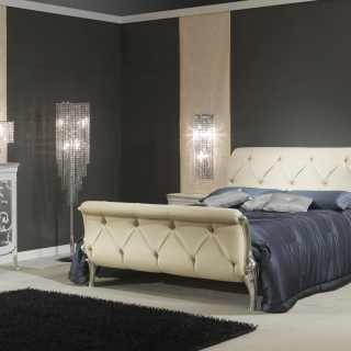 Camera da letto in stile Decò, made in Italy: letto, comodini, comò, specchio
