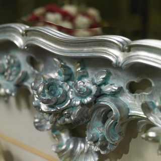 Consolle intagliata in stile barocco
