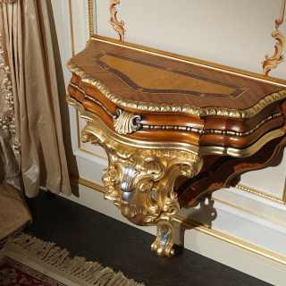 Comodino classico intagliato barocco