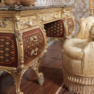 Toilette di lusso intagliata Emperador Gold, art. 397-931