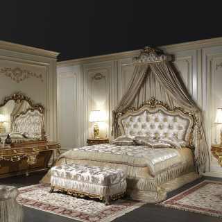 Letto matrimoniale classico barocco