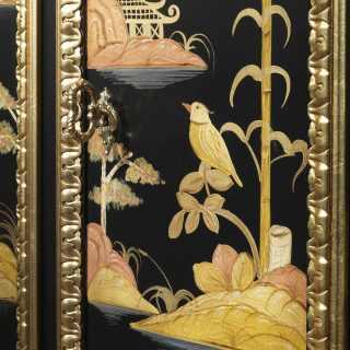 Mobiletto laccato di lusso con decori orientaleggianti eseguiti a mano, della collezione Luigi XV Chinoiserie
