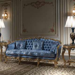 Divano di lusso della collezione classica di lusso Salotto Settecento