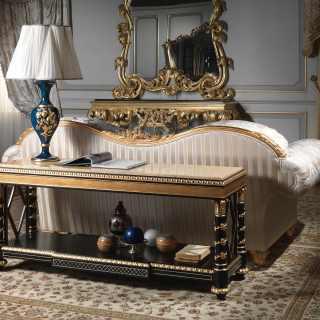 Étagère di lusso della collezione Chinoiserie, laccata e intagliata, stile classico cinese