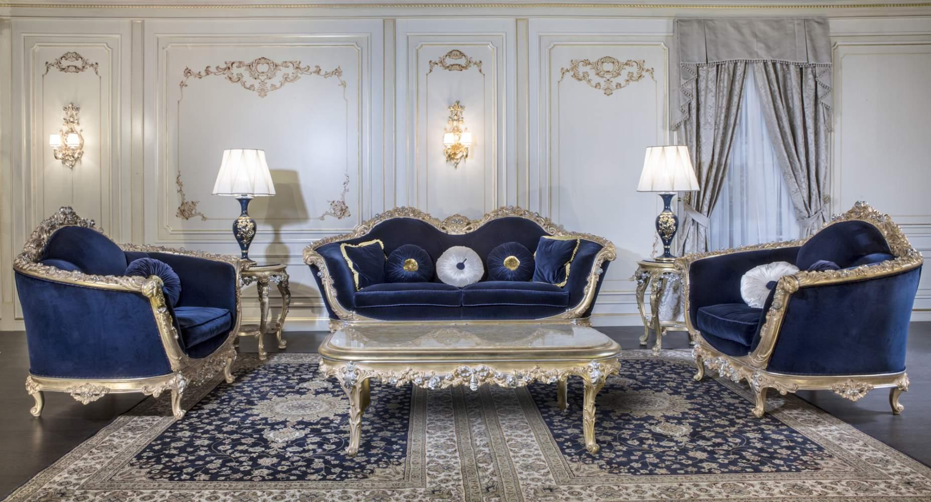 Salotto di lusso stile barocco empire vimercati meda for Salotti di lusso