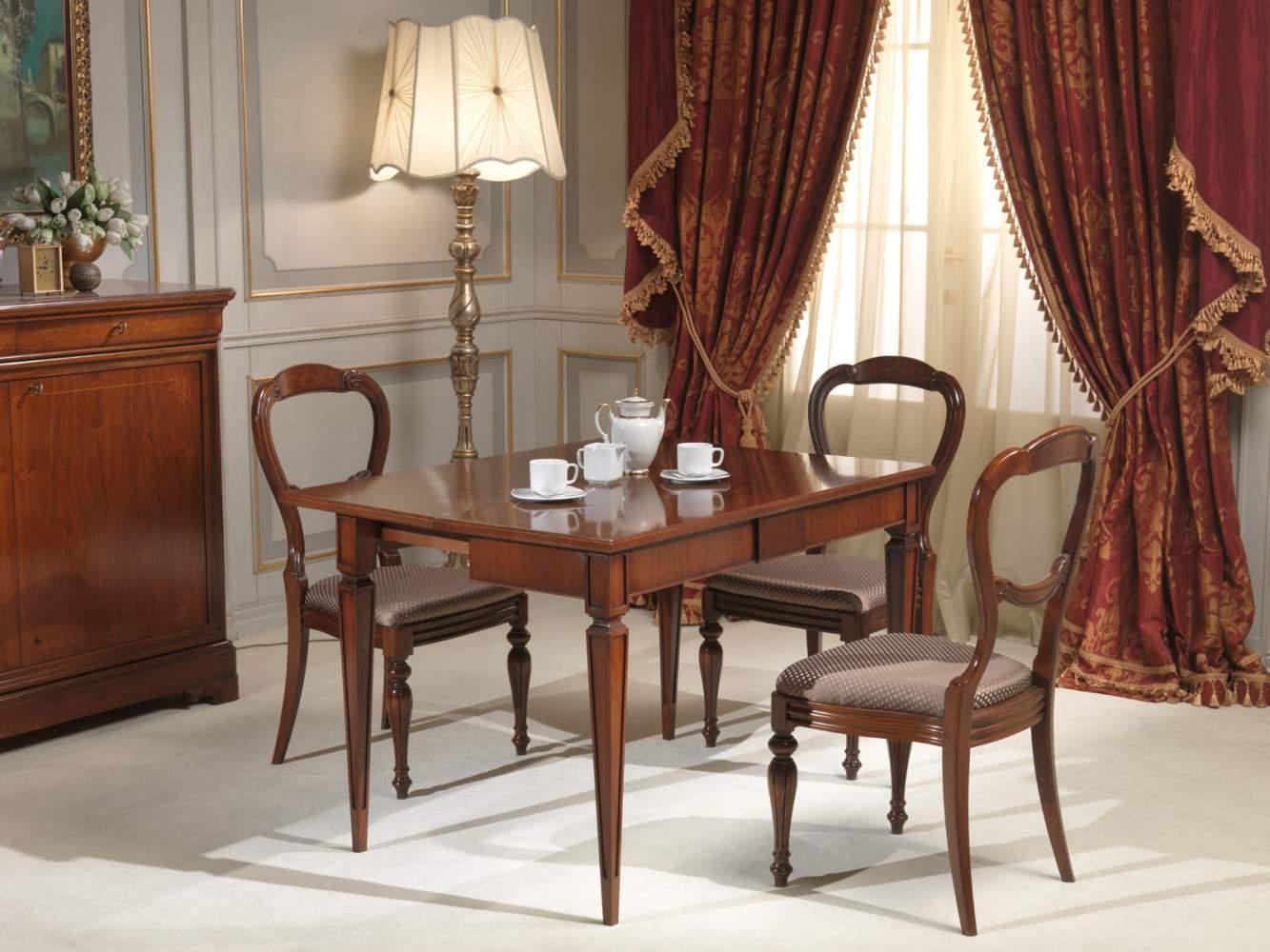 Tavolo consolle classico parzialmente allungato