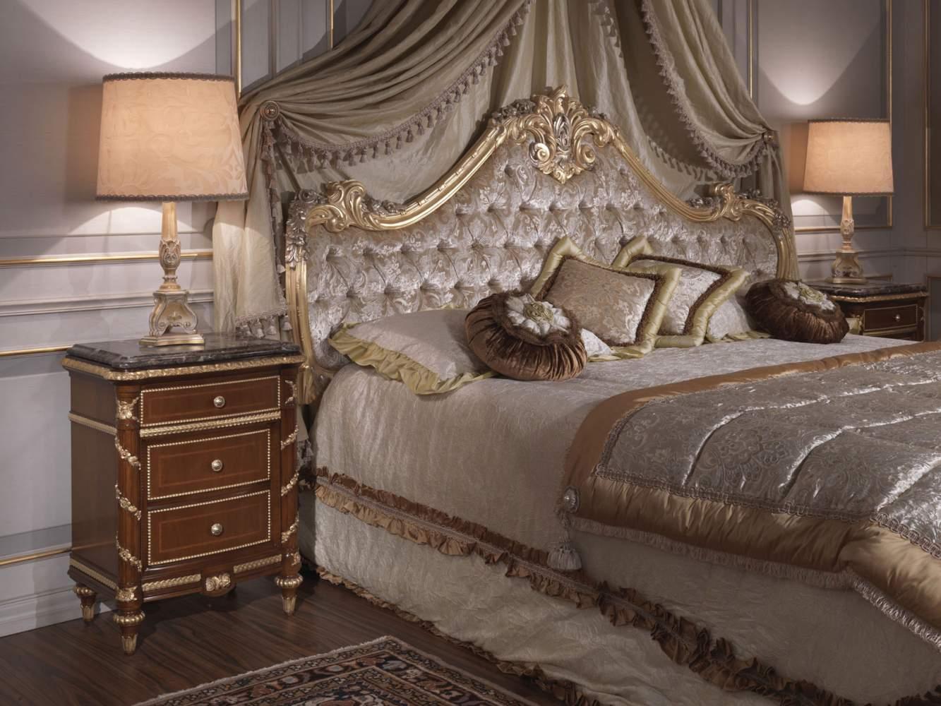 Camera da letto classica letto 700 italiano comodino in - Camera da letto in ciliegio ...