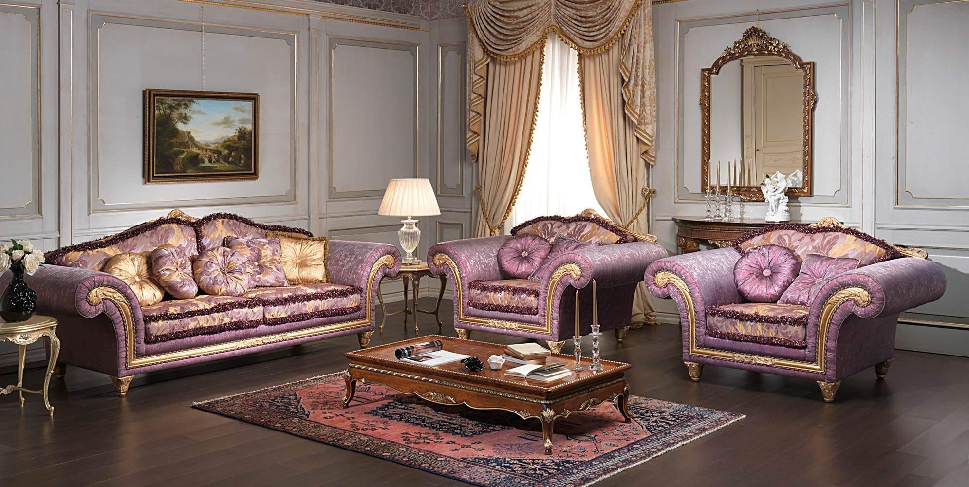 Salotto Classico Imperial Con Divano E Poltrone  Art. IM/21 #90663B 1990 1000 Cucine Classiche Di Lusso Imperial