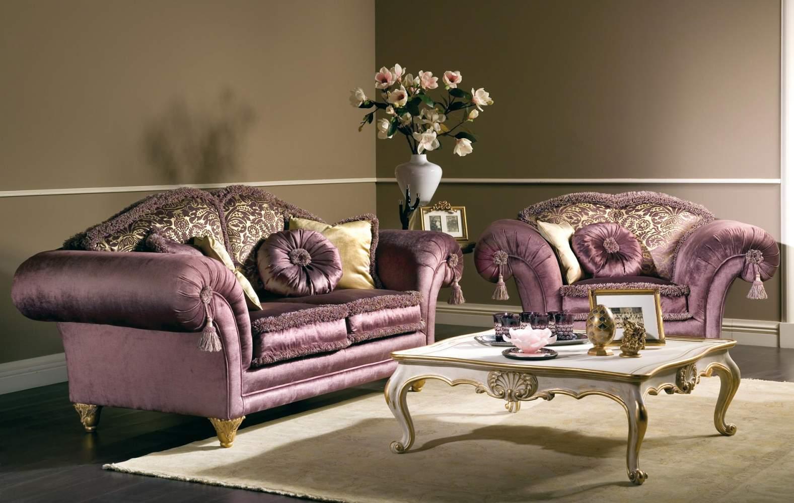 Salotto classico Majestic in stoffa