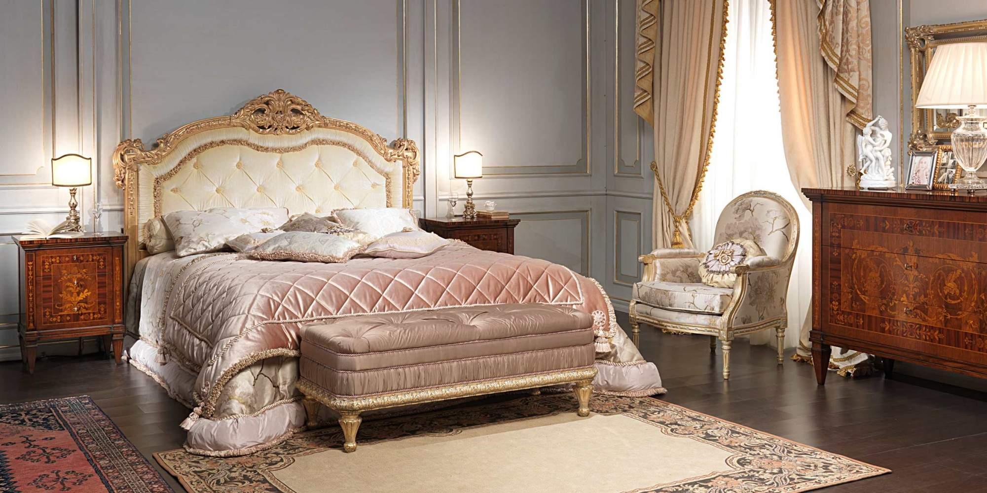 Camera da letto classica I Maggiolini, letto, comodini e comò ...