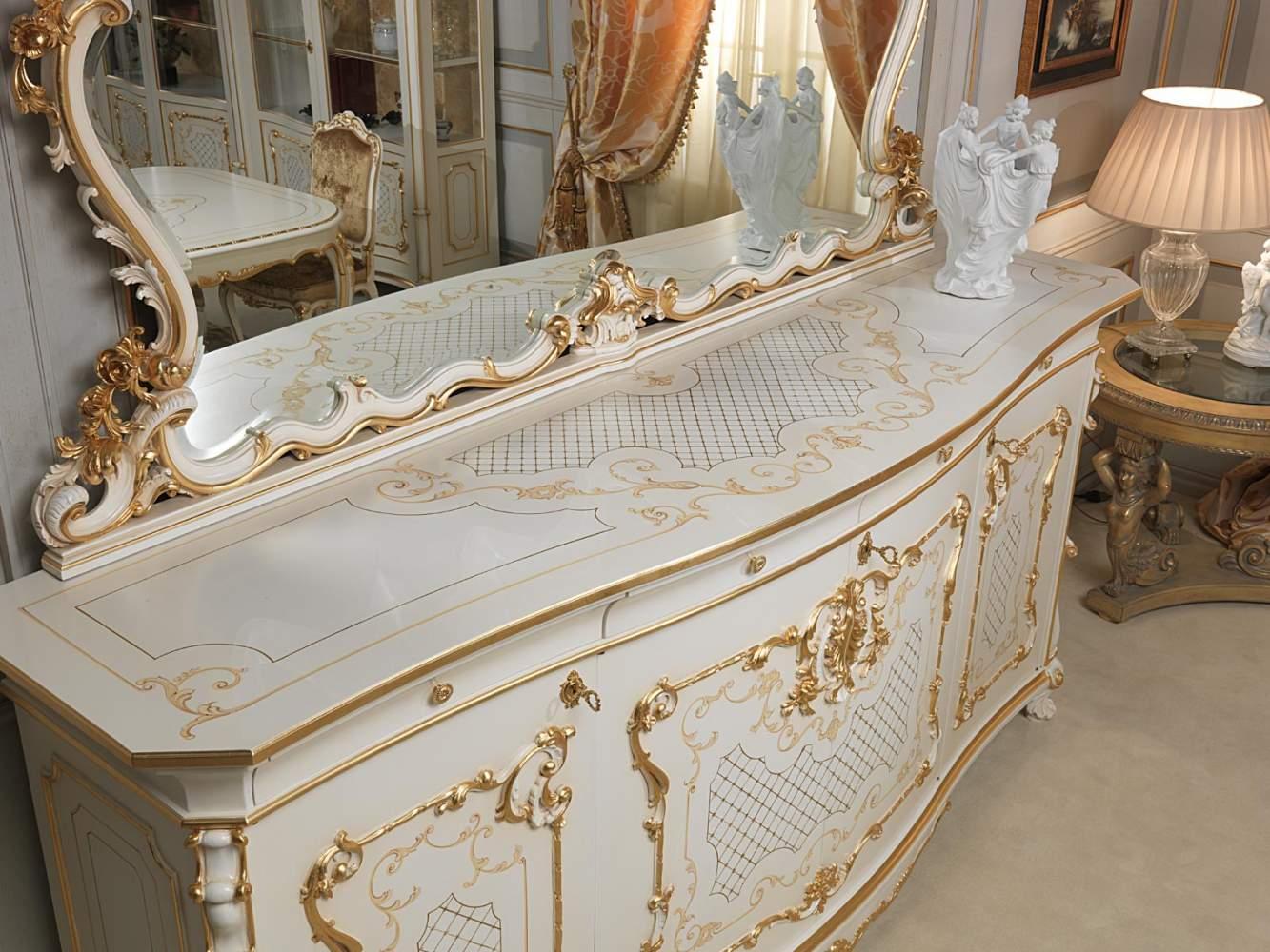 Sala Da Pranzo In Stile Luigi XV: Credenza Con Grande Specchio  #936338 1333 1000 Sala Da Pranzo Luce Calda O Fredda