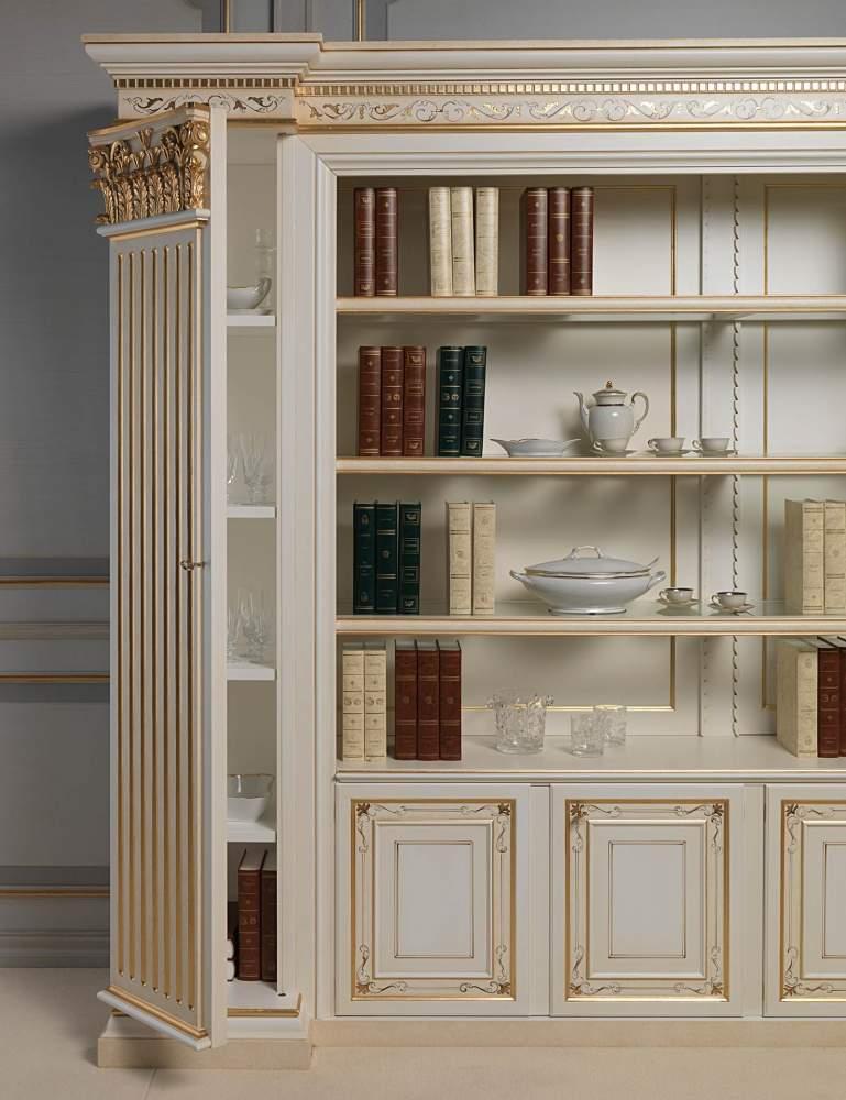 Libreria classica con lesena a scomparti