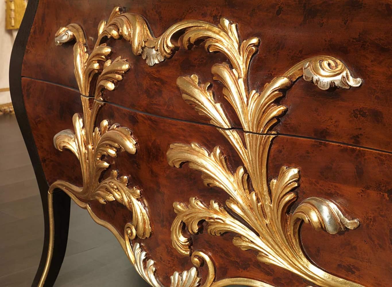 Comò classico stile Luigi XV collezione Emperador Black