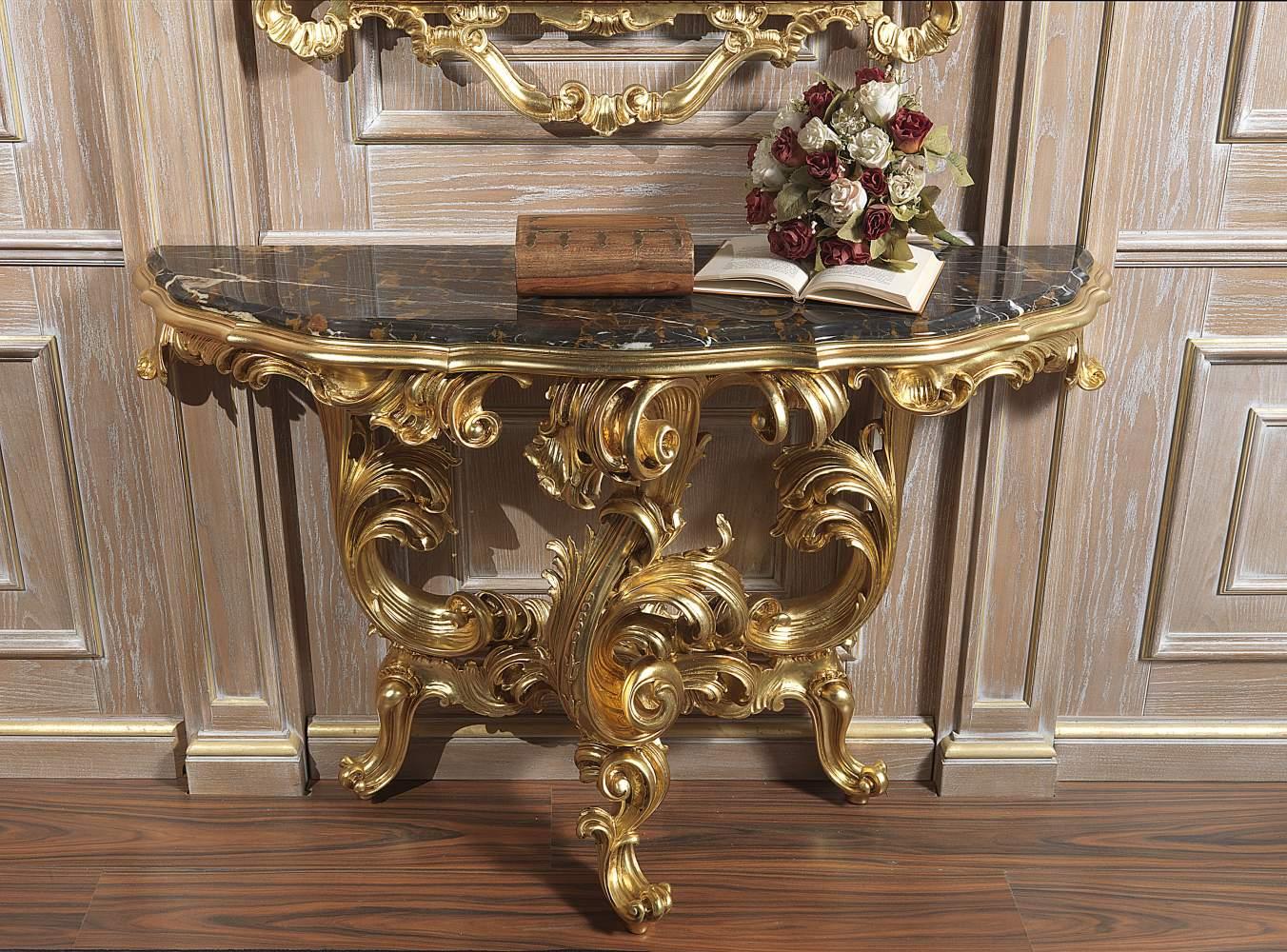 Consolle classica di lusso realizzata in stile barocco
