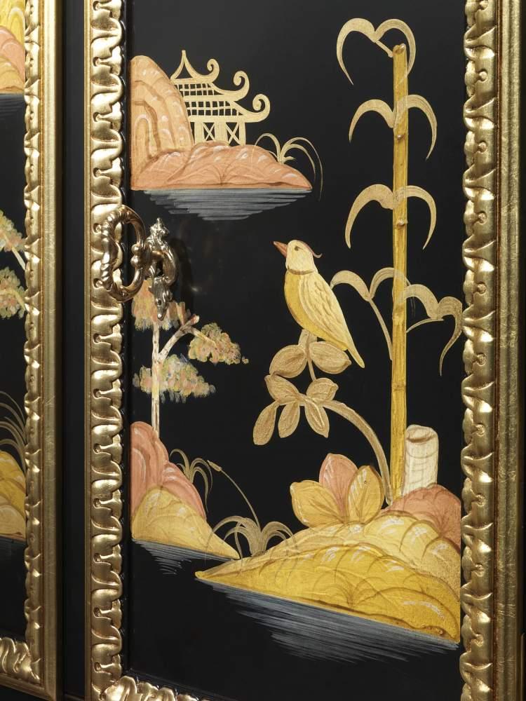 Mobiletto laccato di lusso, collezione Chinoiserie Luigi XV