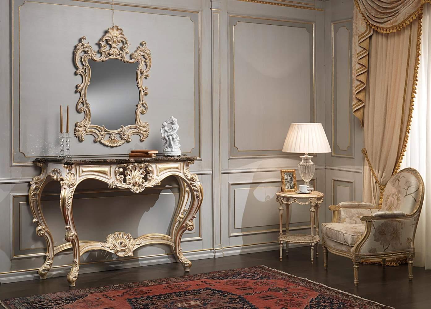 Consolle classica intagliata White and Gold