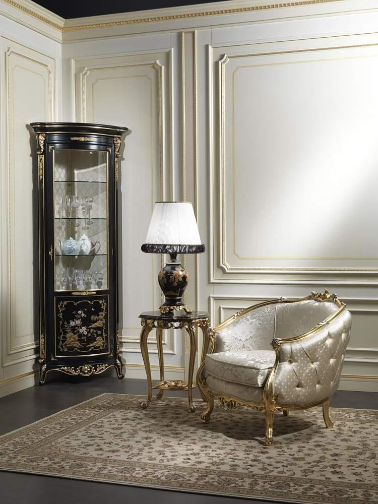 Mobile vetrina classico in stile cinese Luigi XV della collezione Chinoiserie