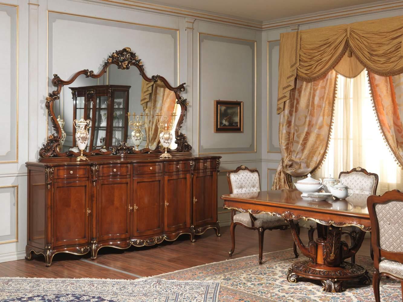 Tavolo Da Pranzo Intagliato E Intarsiato In Stile Luigi XV #AA4D21 1333 1000 Sala Da Pranzo Spagnolo