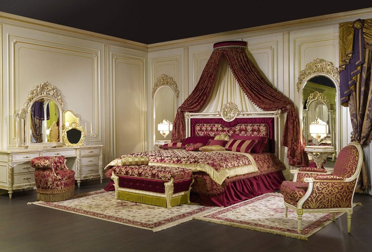 Camera da letto di lusso con baldacchino a muro vimercati meda - Camera da letto roma ...