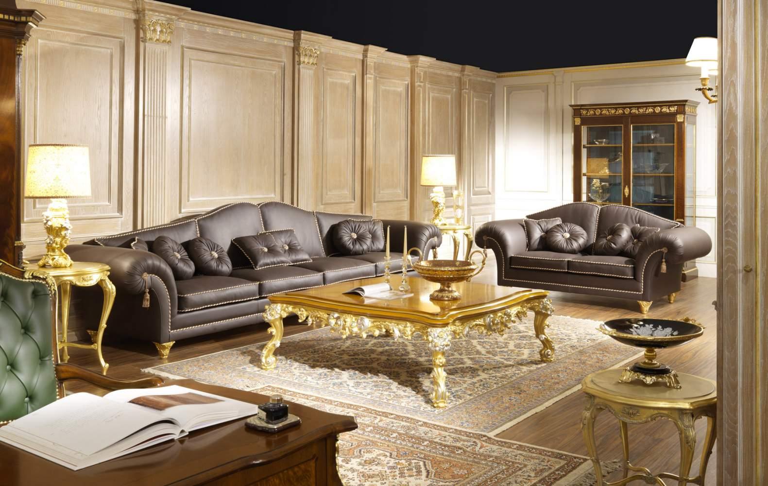 Salotto di lusso in pelle majestic vimercati meda for Divani di lusso marche